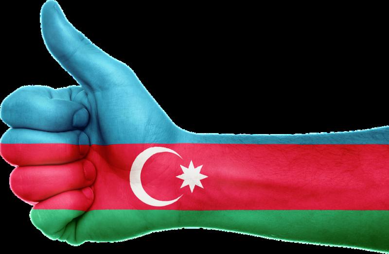 Azerbaijani flag interpretation. Pixabay image licensed to reuse.