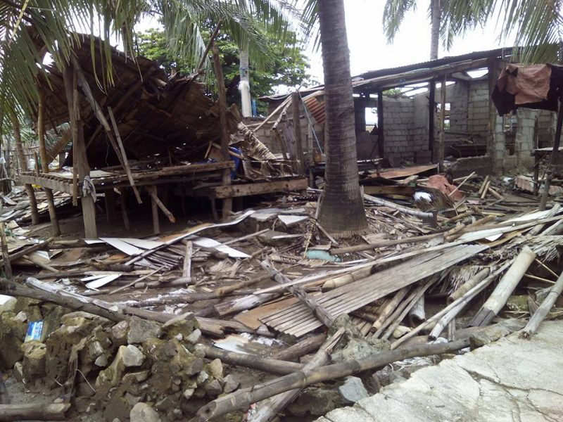 One of the demolished houses. Photo credits: Pamalakaya-Pilipinas.