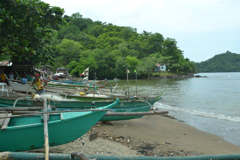 A fishing village in Patungan Cove. Photo from Pamalakaya