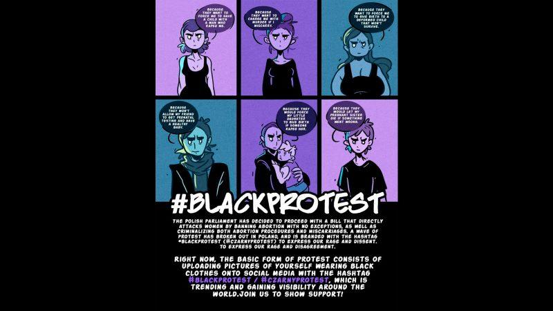 Постер для польского движения «Протест в черном». Фото использовано с разрешения автора Каси Бабис.