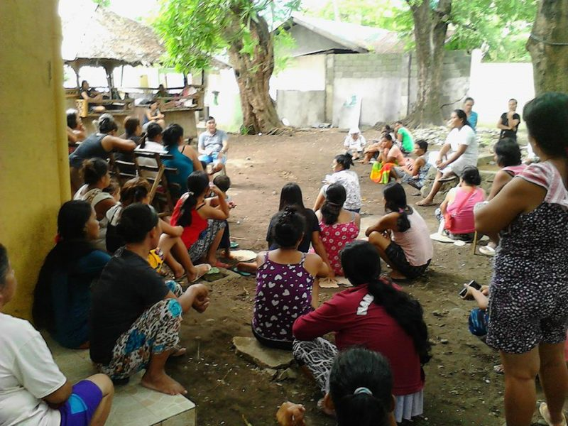 Gathering of residents during the National Fact Finding and Solidarity Mission in Patungan last September 3-4. Photo credits: Pamalakaya-Pilipinas.