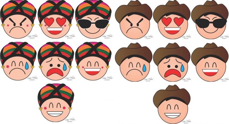Emojis depicting Huastec culture. Republished with permission.