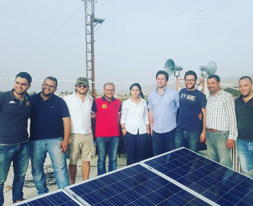 The GP Stellar team at the Bar Elias Refugee Camp. Source: GP Stellar Facebook Page.