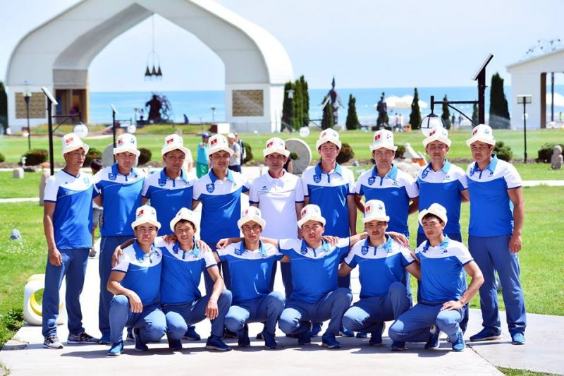 Kyrgyzstan's national Kok-Boru team. Shared by the Kyrgyz Kok-Boru federation on Facebook.