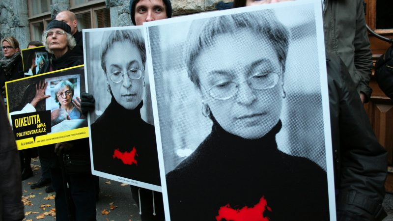 Anna Politkovskaya. Source: Amnesty Finland, Flickr