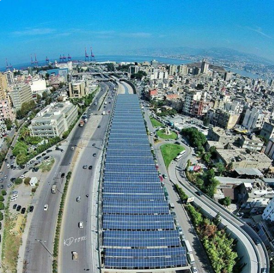 Beirut River Solar Project. Source: Solar Lebanon on Twitter.
