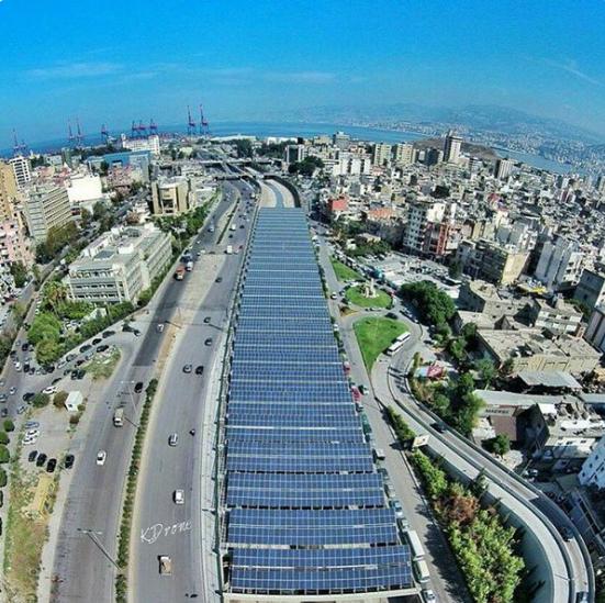 Beirut River Solar Project. Source: Solar Lebanon on Twitter.