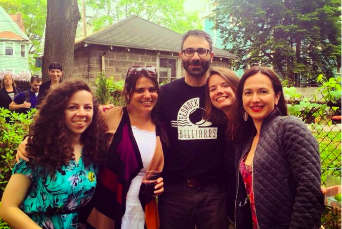 Global Voices community members Marianna Breytman, Elaine Diaz, Ivan Sigal, Ellery Roberts Biddle and Firuzeh Shokooh Valle in 2015.