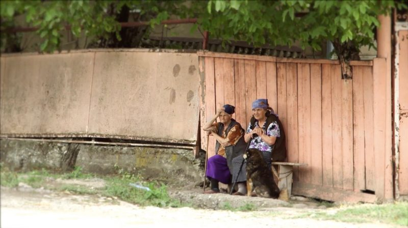 Women in Tirdznisi, Georgia. Screenshot from vide uploaded onto YouTube by Chai-Khana.org.