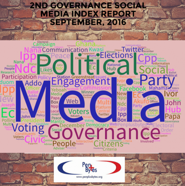 La page de couverture du rapport Governance Social Media Index.