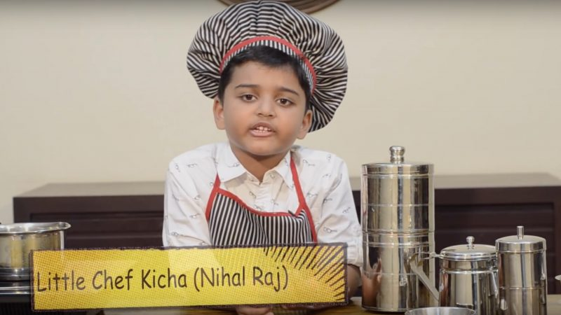 Little Chef Kicha on his YouTube show. Screenshot from Video.