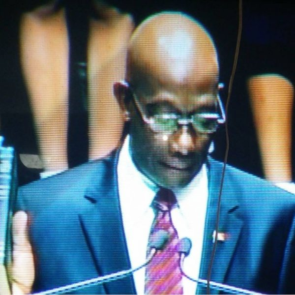 Trinidad and Tobago's Prime Minister, Dr. Keith Rowley; photo by Jacqueline Morris, used under a CC BY-NC-ND 2.0 license.