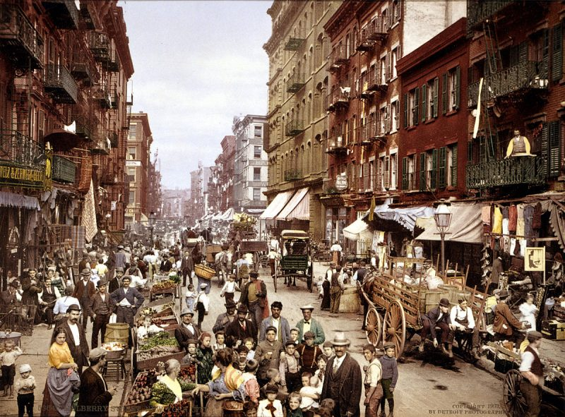 """Millions around the world treasure the American ideal   that whatever your creed or background, America will welcome you."" Mulberry Street, New York City circa.1900. PHOTO: Public Domain by the Library of Congress (via Wikimedia Commons)"