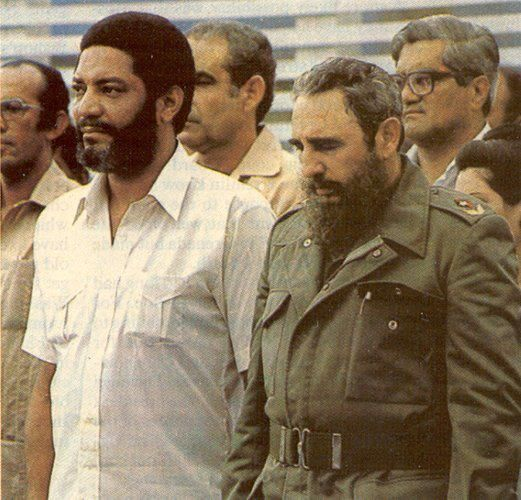 Image of Maurice Bishop and Fidel Castro shared by Facebook user Tillah Willah.