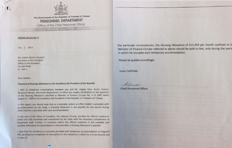 Screengrab of the CPO's letter to the president's secretary, one of the documents upon which the Queen's Counsel based her opinion.