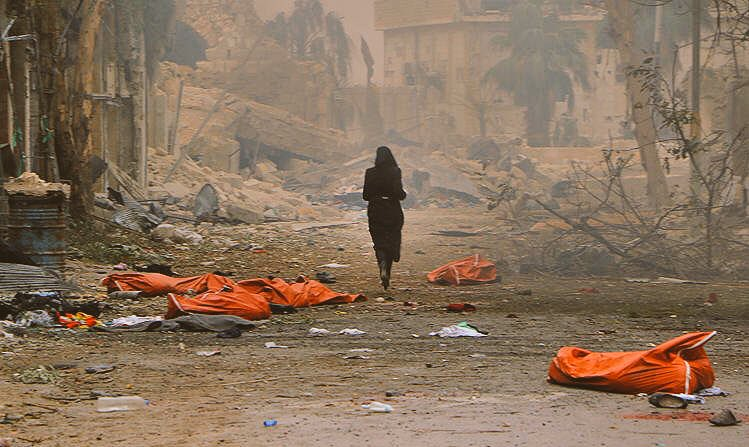@AhmadAlkhtiib She survived, she run out from Death It's not a ghost, She's a woman survived from death #Aleppo today