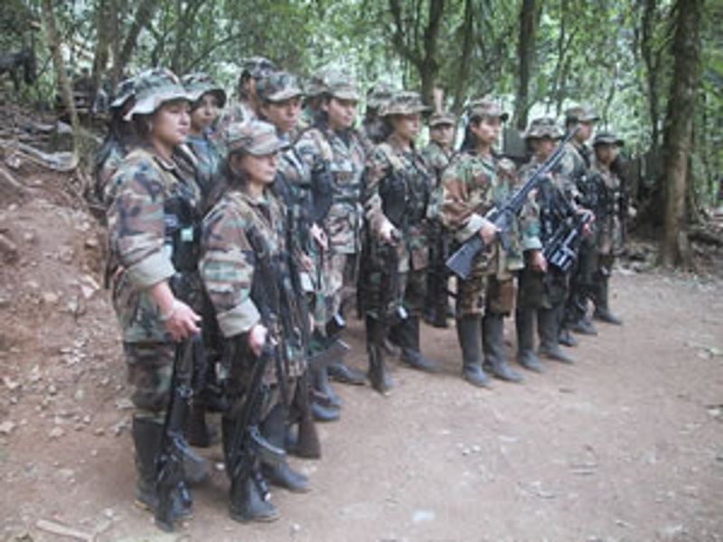 FARC guerrillas during the Caguan peace process March 22, 2006. Photo by DEA Public Affairs. Public domain