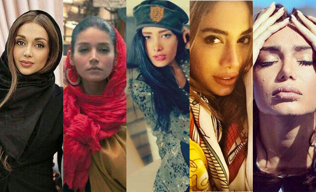 Iranian models arrested in recent crackdowns.