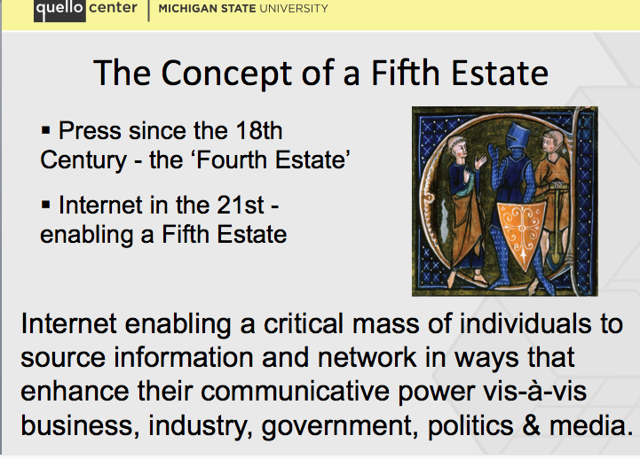 The Concept of the Fifth Estate
