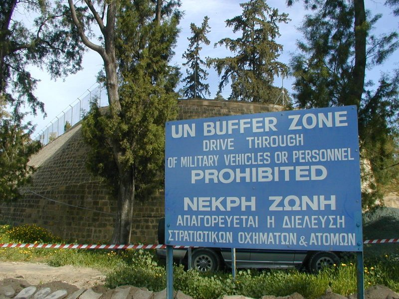 UN buffer zone, Cyprus. Creative commons.