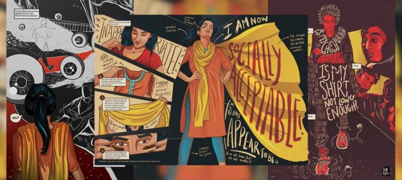One of Shehzil Malik's illustrations. Credit: Courtesy of Shehzil Malik