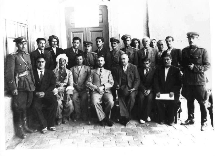 Kurdish Mahabad Republic was established in 1947. The President Qazi Muhammad In The Middle. Picture from Wikimedia Commons, part of Public Domains.
