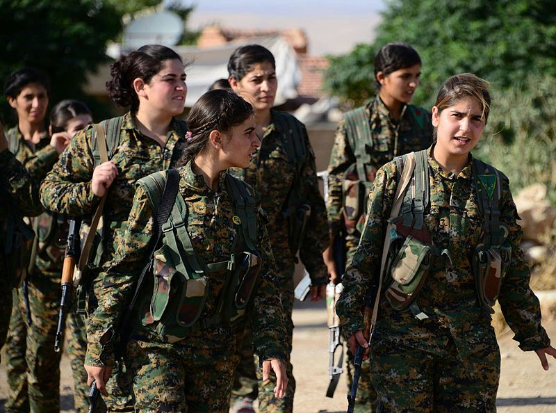 Women's Protection Units Fighters, August, 4 2015 Source: Wikimedia Commons