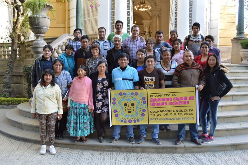 Group photo of workshop participants in Cochabamba, Bolivia