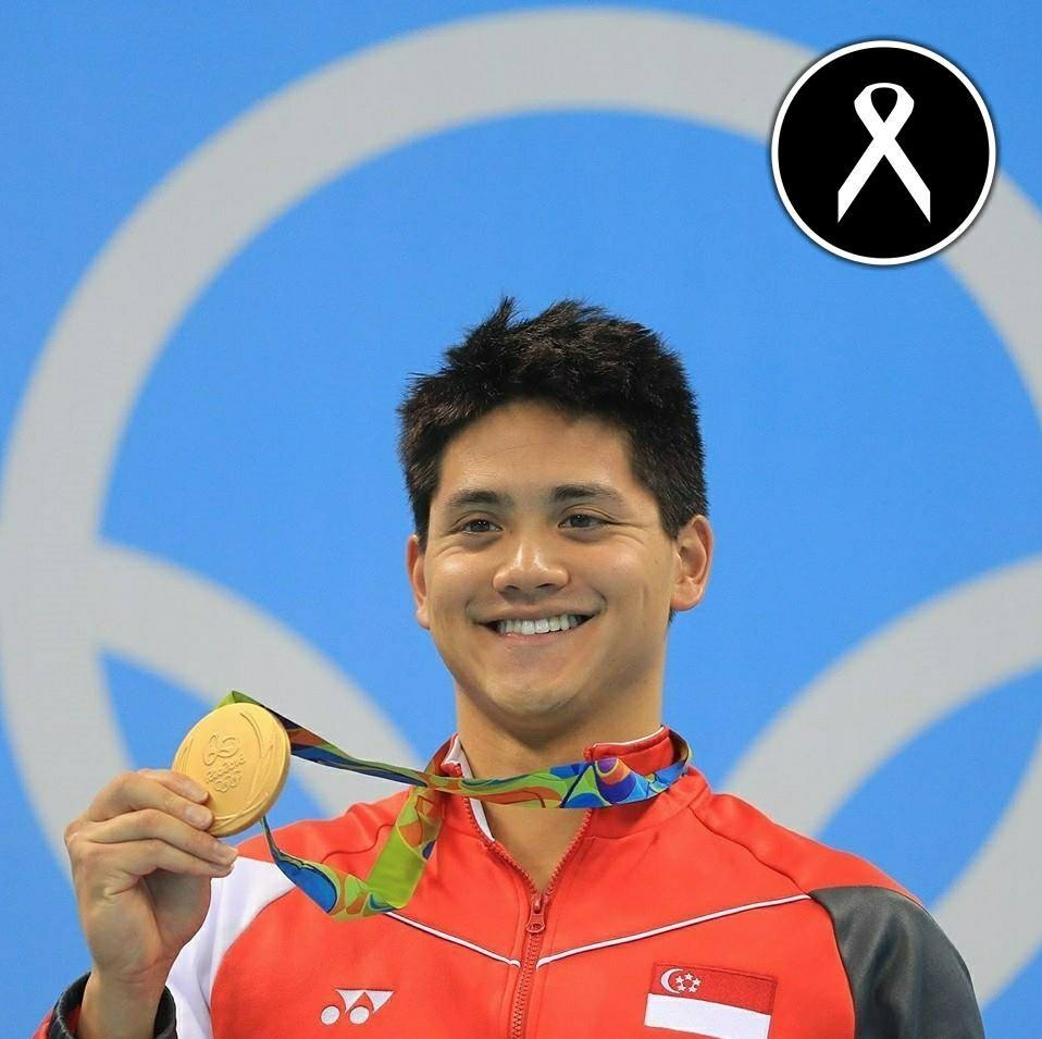 Olympic gold medalist Joseph Schooling supports the White Ribbon campaign. Source: Facebook