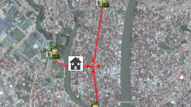 Карта того, в каких пределах можно передвигаться. Фото сделано отцом автора.
