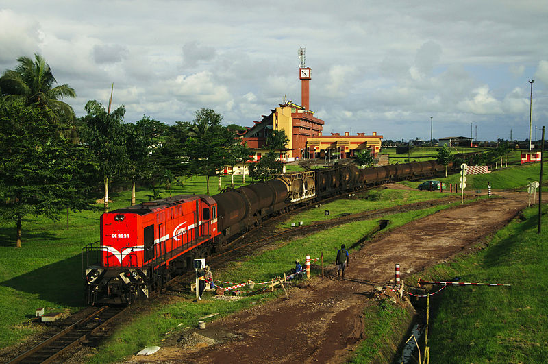 A train station in Douala Cameroon. Creative Commons photo by Z. NGNOGUE.