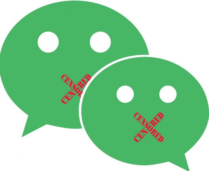 WeChat censor. Remix image.