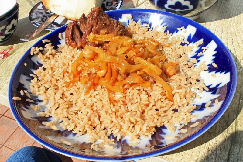 Samarkand plov. Photo by FLickr user Robert Wilson.