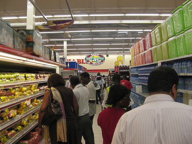 A supermarket in Accra, Ghana. Creative Commons image by Flickr user Michael Sean Gallagher.