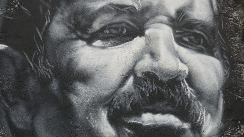 A painted portrait of Algerian President Abdelaziz Bouteflika., whose criticism is banned under the country's Penal Code. Photo: Thierry Ehrmann, courtesy of Organ Museum