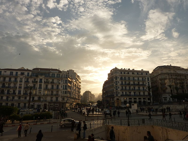 Algiers at sunset. Photo by Faten Aggad via Wikimedia Commons (CC BY 3.0)