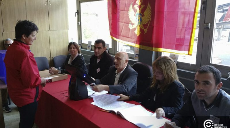 A polling station in Montenegro. Photo by Center for Democratic Transitions, used with permissions.