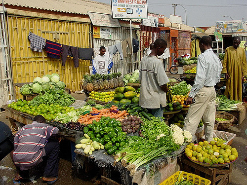 A local market in Abuja, Nigeria. Corruption affects the poor the most. Creative Commons image by Flickr user Jeff Attaway.