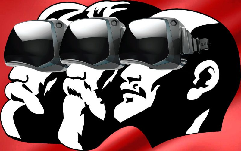 The October Revolution meets virtual reality. Photo edited by Kevin Rothrock.