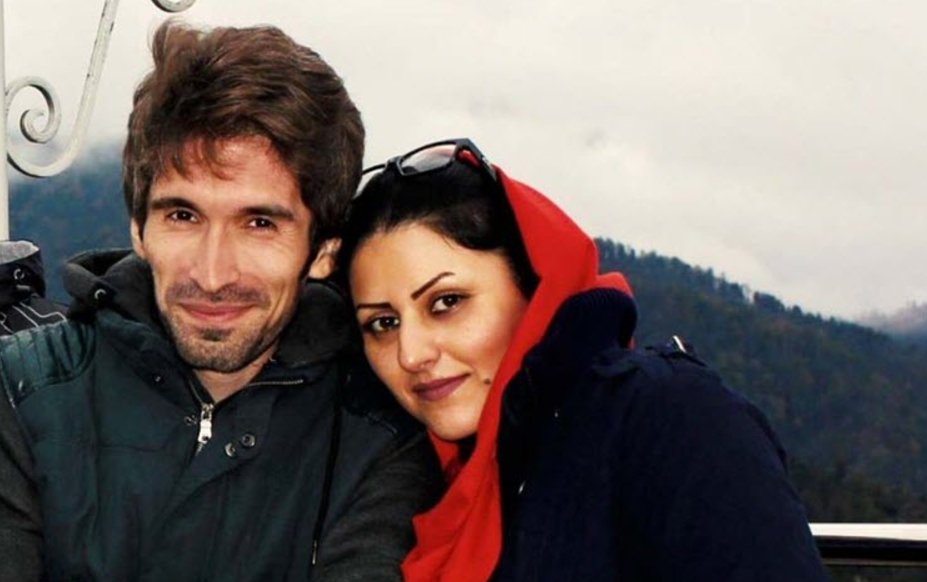 Arash Sadeghi and Golrokh Ebrahimi Iraee, together before his arrest. Photo shared widely on social media.
