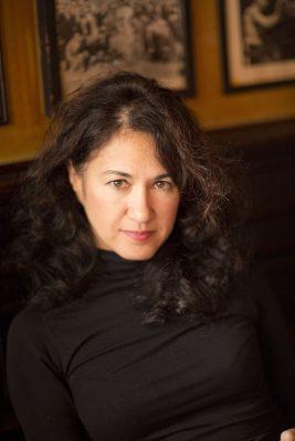 A portrait of the Iranian-American fashion deigner Azin Vali.
