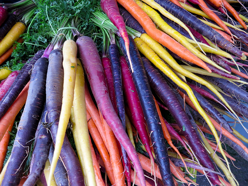 A collection of colorful carrots in Adelaide, Australia. Photo by Helen K. CC 2.0.