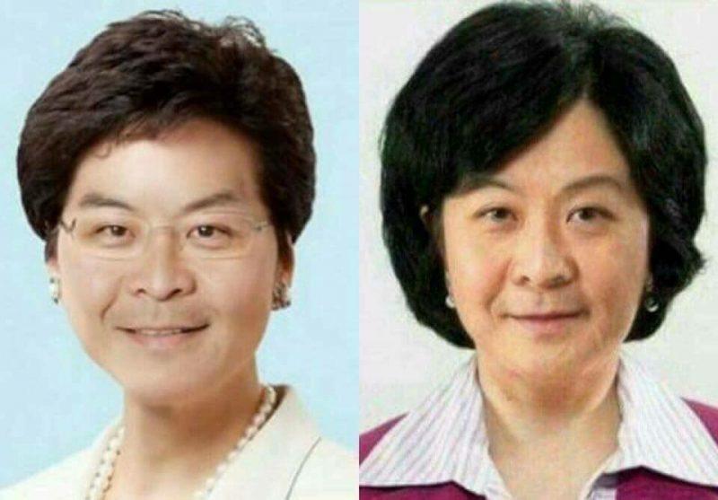 Muchos hongkoneses creen que Carrie Lam y Regina Ip, potenciales candidatas en la próximas elecciones de jefe ejecutivo, son copias exactas del actual líder de la ciudad, CY Leung. Imagen viral de Facebook y Twitter por Kris Cheng.