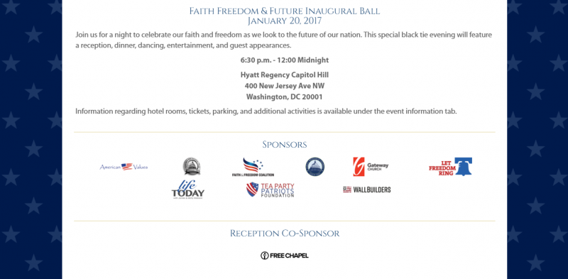 Screenshot from www.faithfreedomfutureball.com