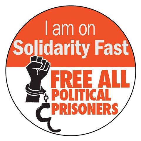 Solidarity pledge badge. Source: Facebook.