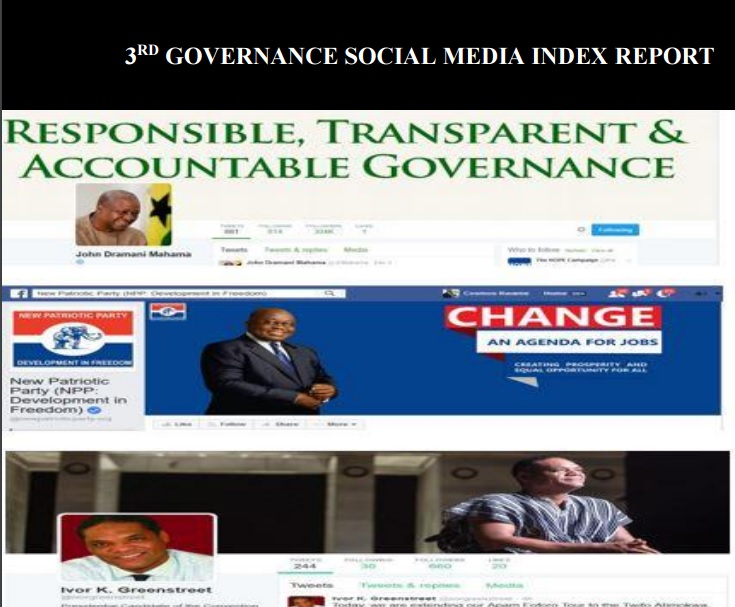 The cover page of the Governance Social Media Index.