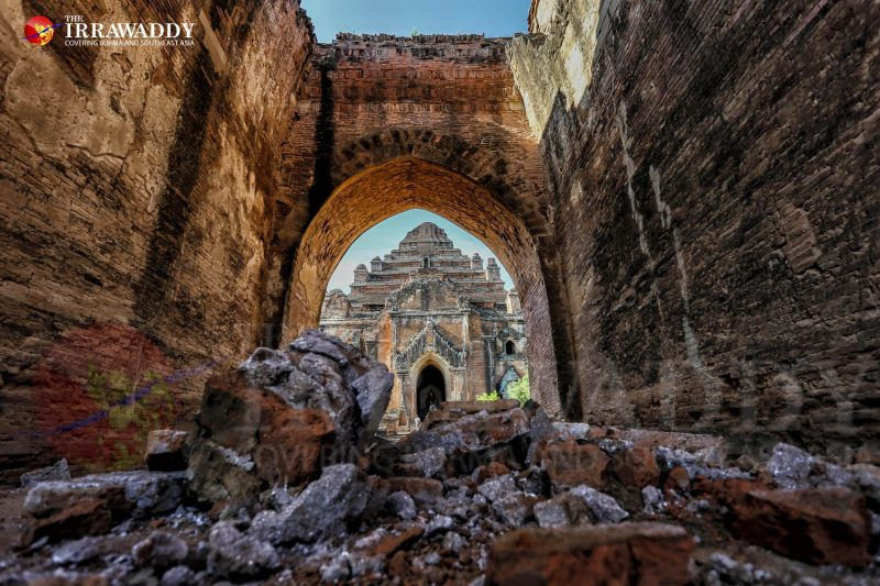 A powerful 6.8 magnitude earthquake struck central Myanmar on Aug. 24 and damaged 396 pagodas and temples in the famous ancient capital of Bagan. (Photo: Zaw Zaw / The Irrawaddy)