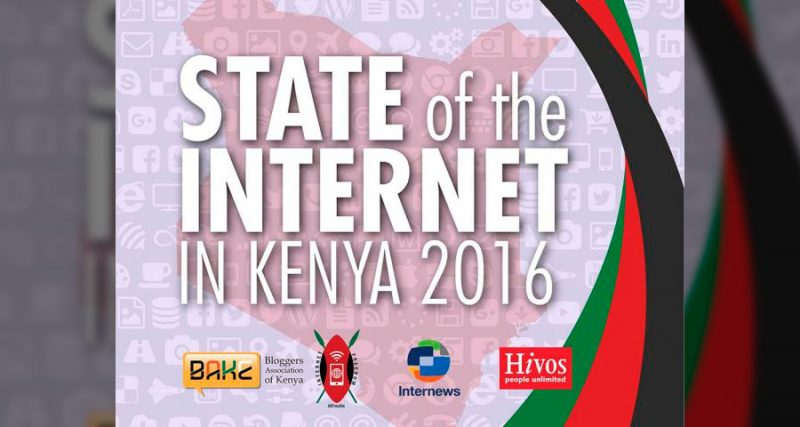 The cover of State of the Internet in Kenya 2016.
