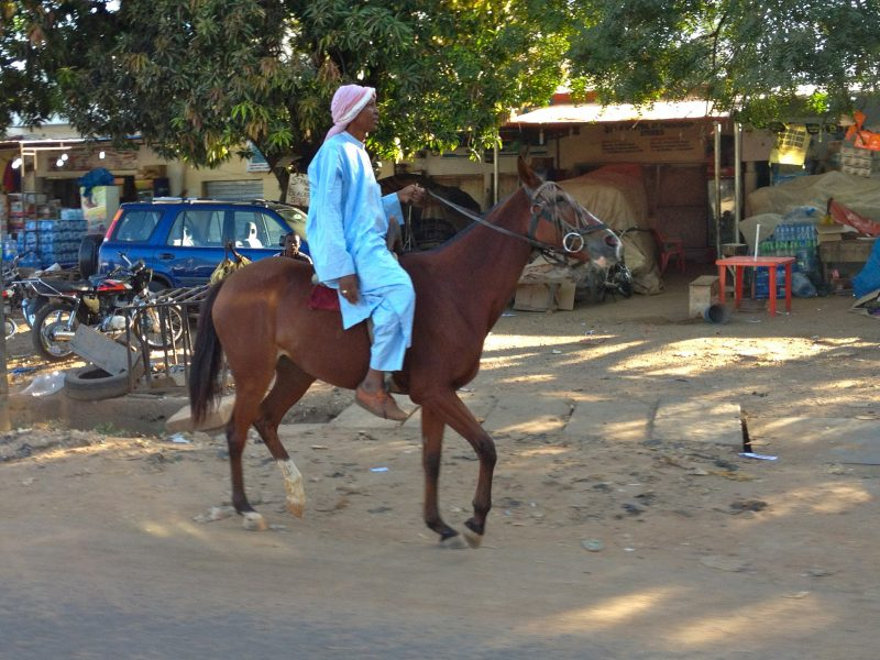 A man riding a horse in Kaduna. Image released under Creative Commons by Flickr user Allan Leonard.