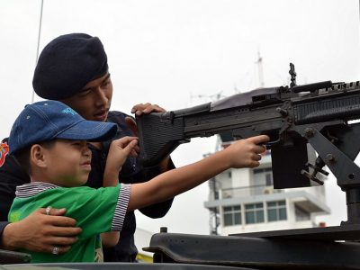 Thai Army Invites Children to Play with Real Guns, Tanks and Assault Helicopters